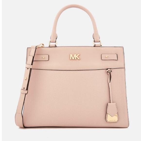 9db7b8236b08fa Michael Kors Bags | Reagan Large Pink Leather Satchel | Poshmark